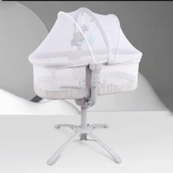 Buy Automatic Rockers and Sleeping Cot for Newborn Baby (Grey) Online