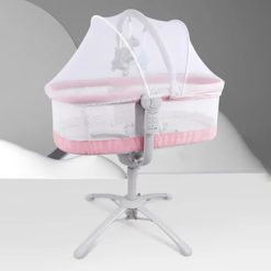 Buy Automatic Rockers and Sleeping Cot for Newborn Baby (Pink) Online